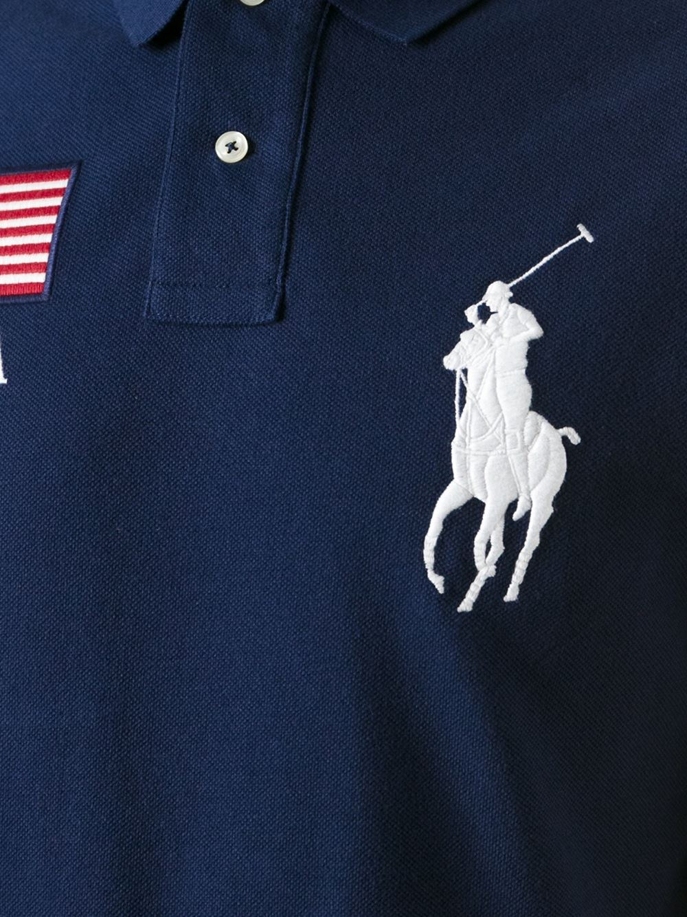 Lyst Polo Ralph Lauren Logo Patch Embroidery Polo Shirt In Blue