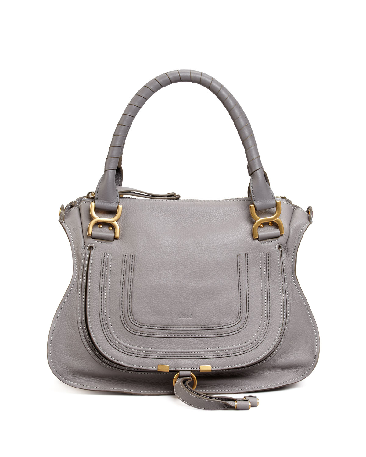 chlo marcie medium shoulder bag in gray lyst. Black Bedroom Furniture Sets. Home Design Ideas