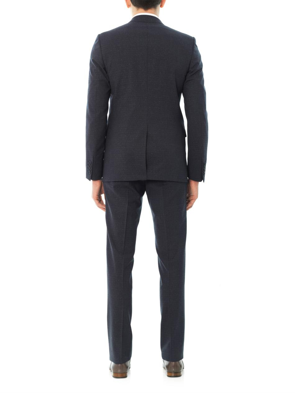 Lanvin Evolution Fit Woolblend Suit In Blue For Men Lyst