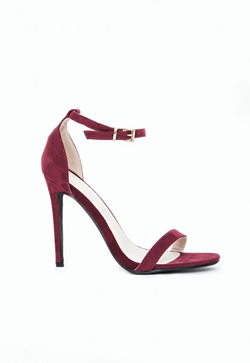 d31b6accc4c8 Missguided Clara Strappy Heeled Sandals Oxblood in Purple - Lyst