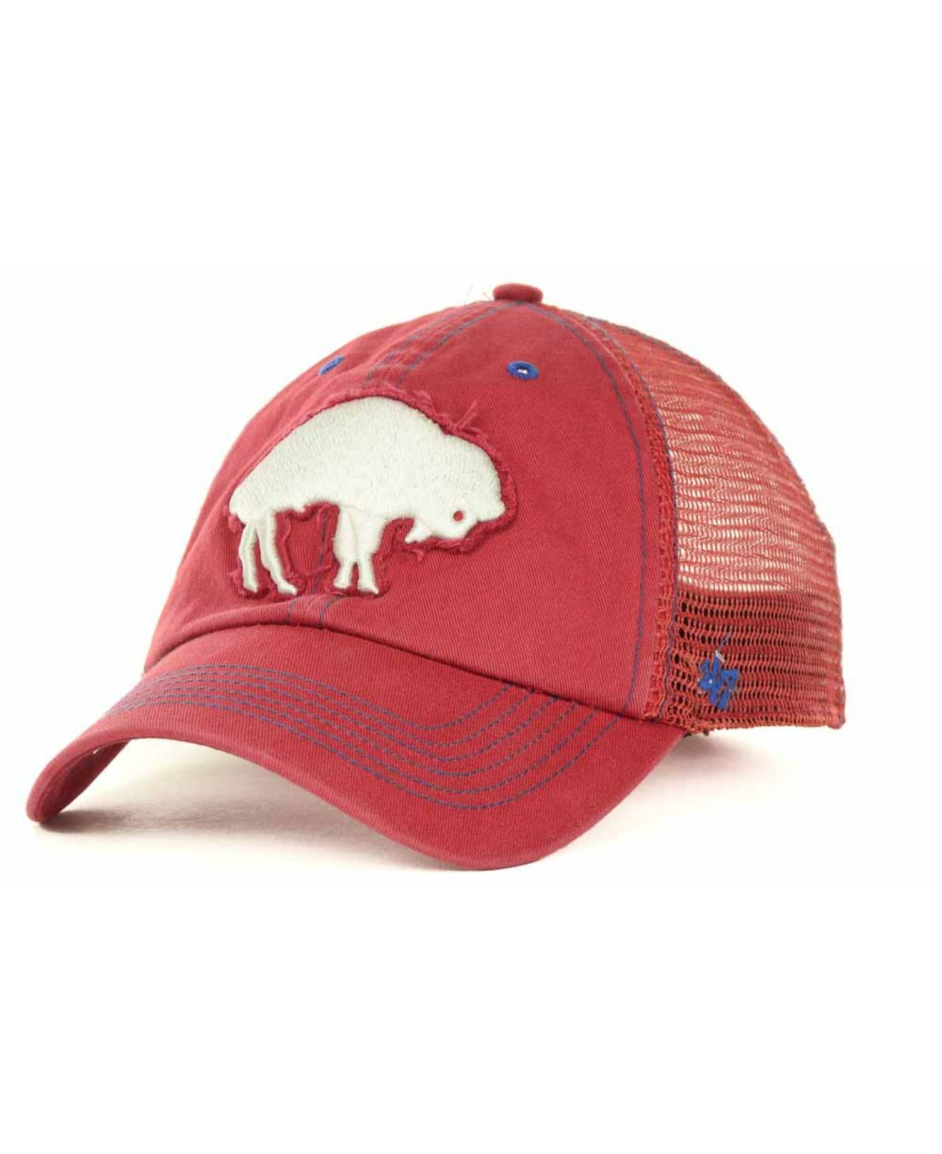 c0f39007e5e ... authentic lyst 47 brand buffalo bills flexbone cap in red for men 5739e  fabbd