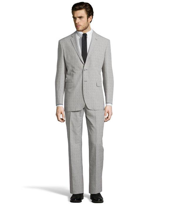 Saint laurent Light Grey Plaid Super 120s Wool 2-button 'glen ...