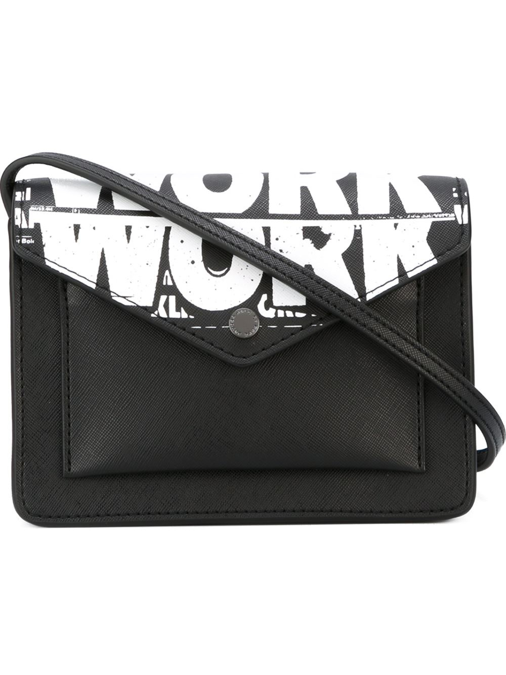 1a4b021cb94a Lyst - Marc By Marc Jacobs Work Print Crossbody Bag in Black