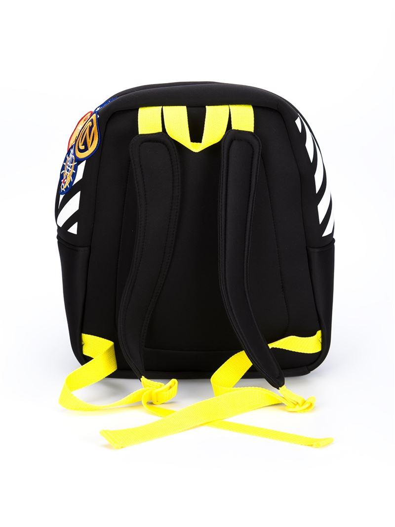 off white c o virgil abloh patch detail backpack in black. Black Bedroom Furniture Sets. Home Design Ideas