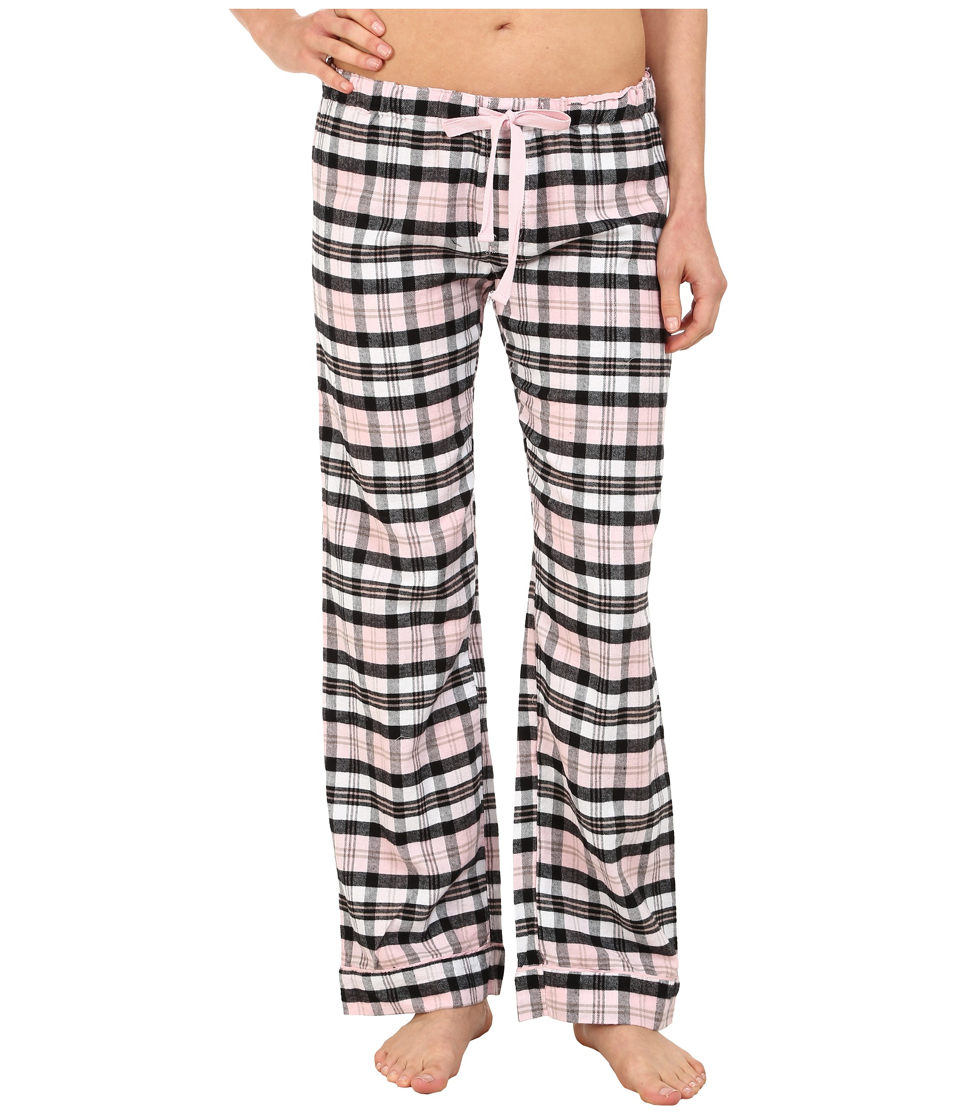 6be8e9b40f7 Lyst - Pj Salvage Blk N Blush Sleep Pants in Pink
