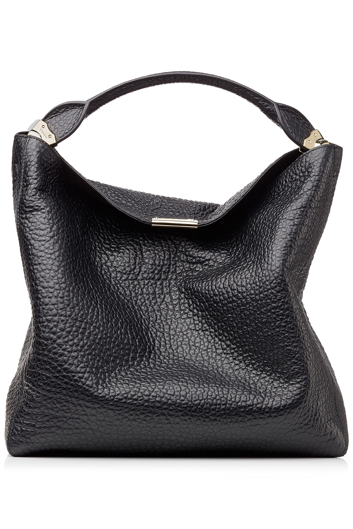 9ab8ff6d70e7 Lyst - Burberry Lindburn Embossed Leather Hobo Bag - Black in Black