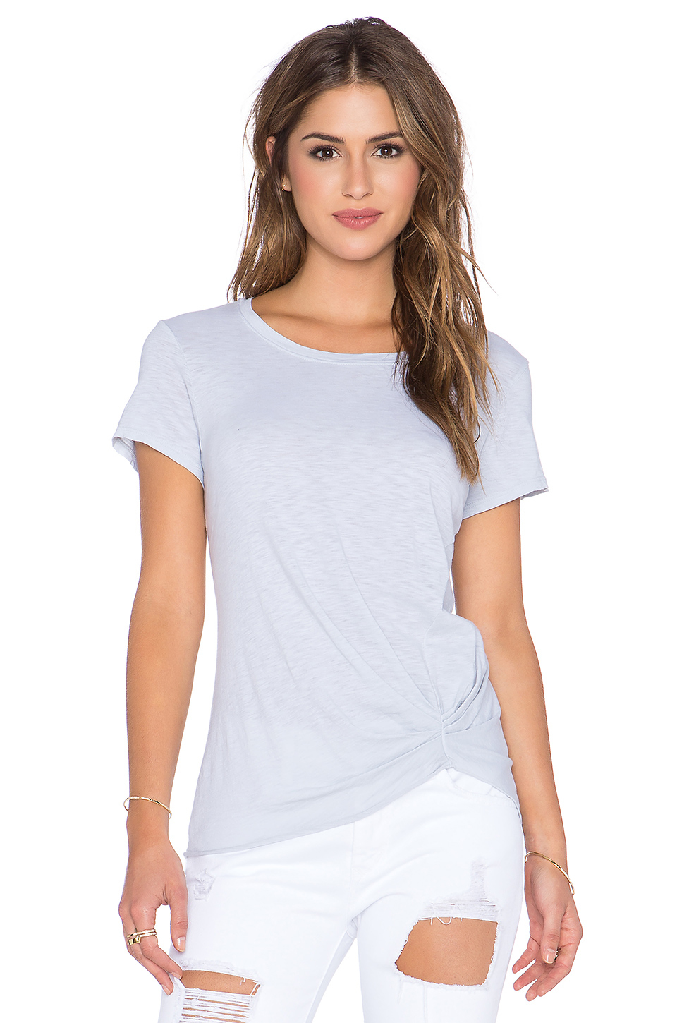 Michael stars short sleeve crew neck tee in blue lyst for Michael stars tee shirts