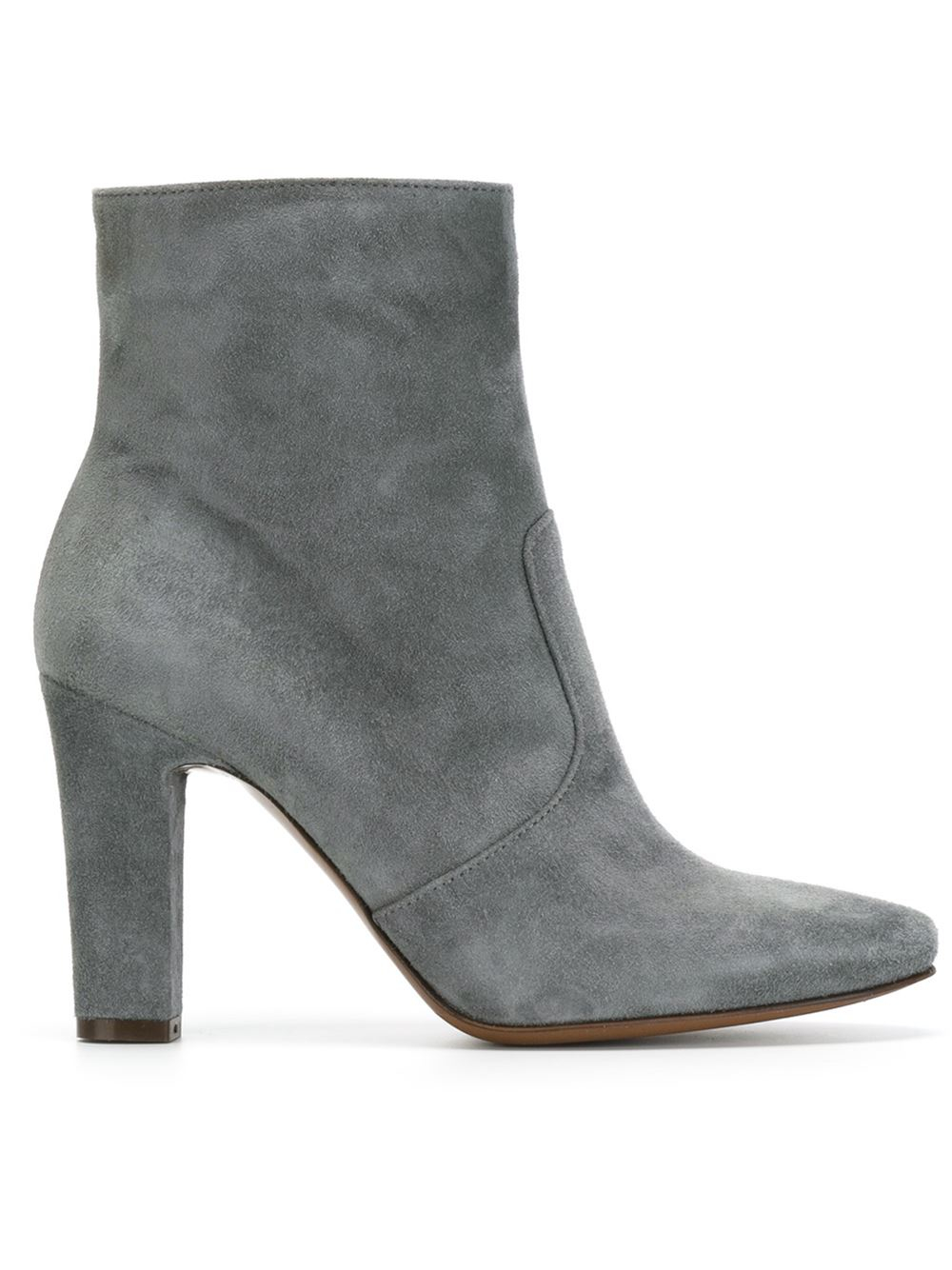 Lyst L Autre Chose Chunky Heel Ankle Boots In Gray