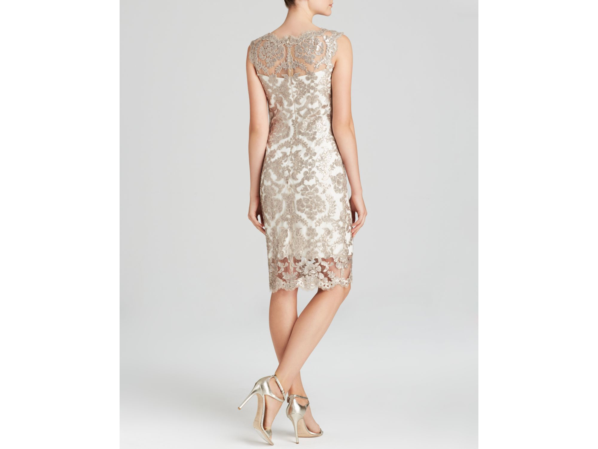 Lyst - Tadashi Shoji Dress - Sleeveless Illusion Neckline Sequin ...