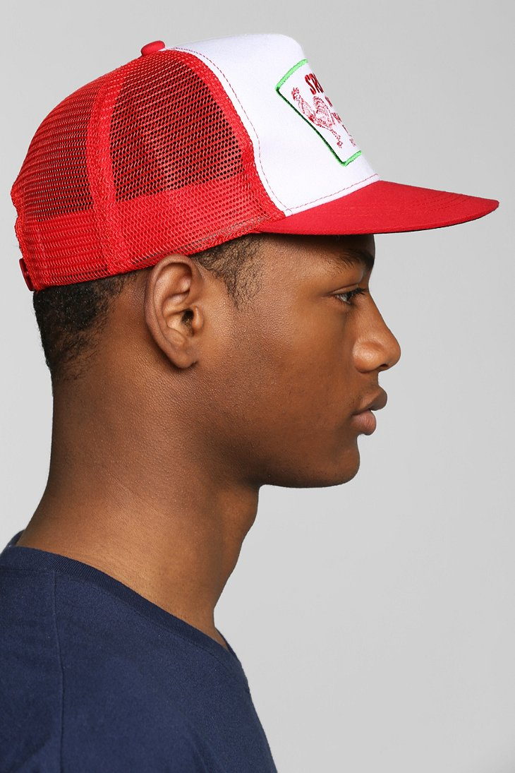 Lyst Urban Outfitters Sriracha Trucker Hat In Red For Men