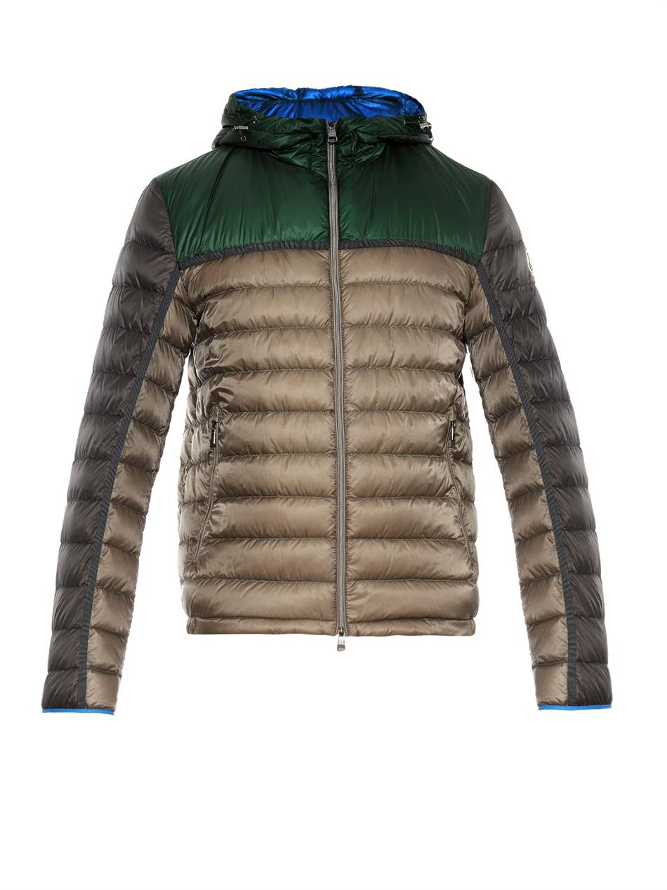 Moncler Arsenal Giubbotto Quilted Down Jacket in Green for Men