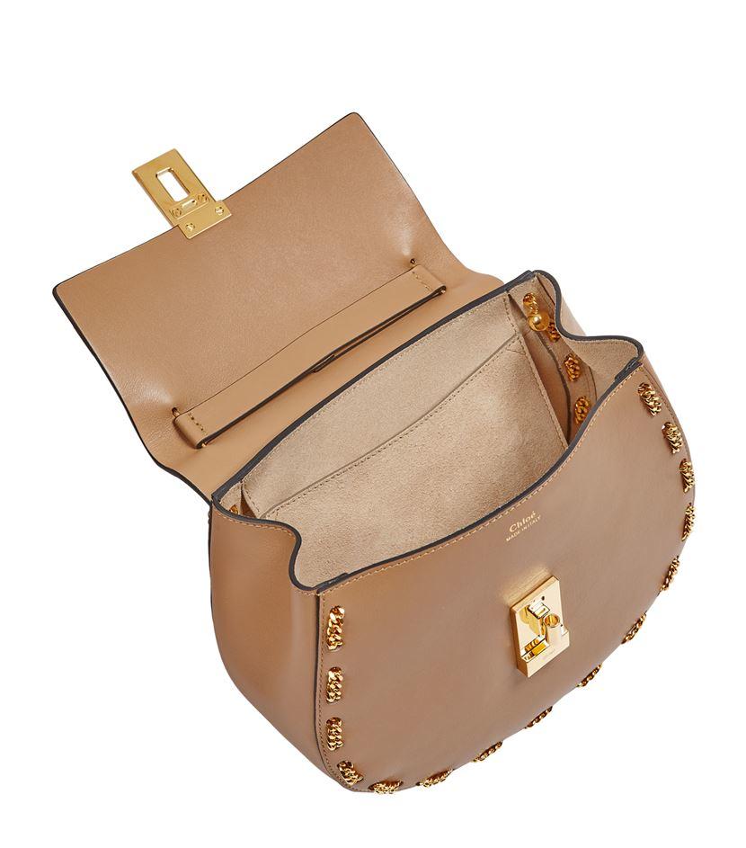 Chlo¨¦ Small Drew Chain Trim Shoulder Bag in Beige | Lyst