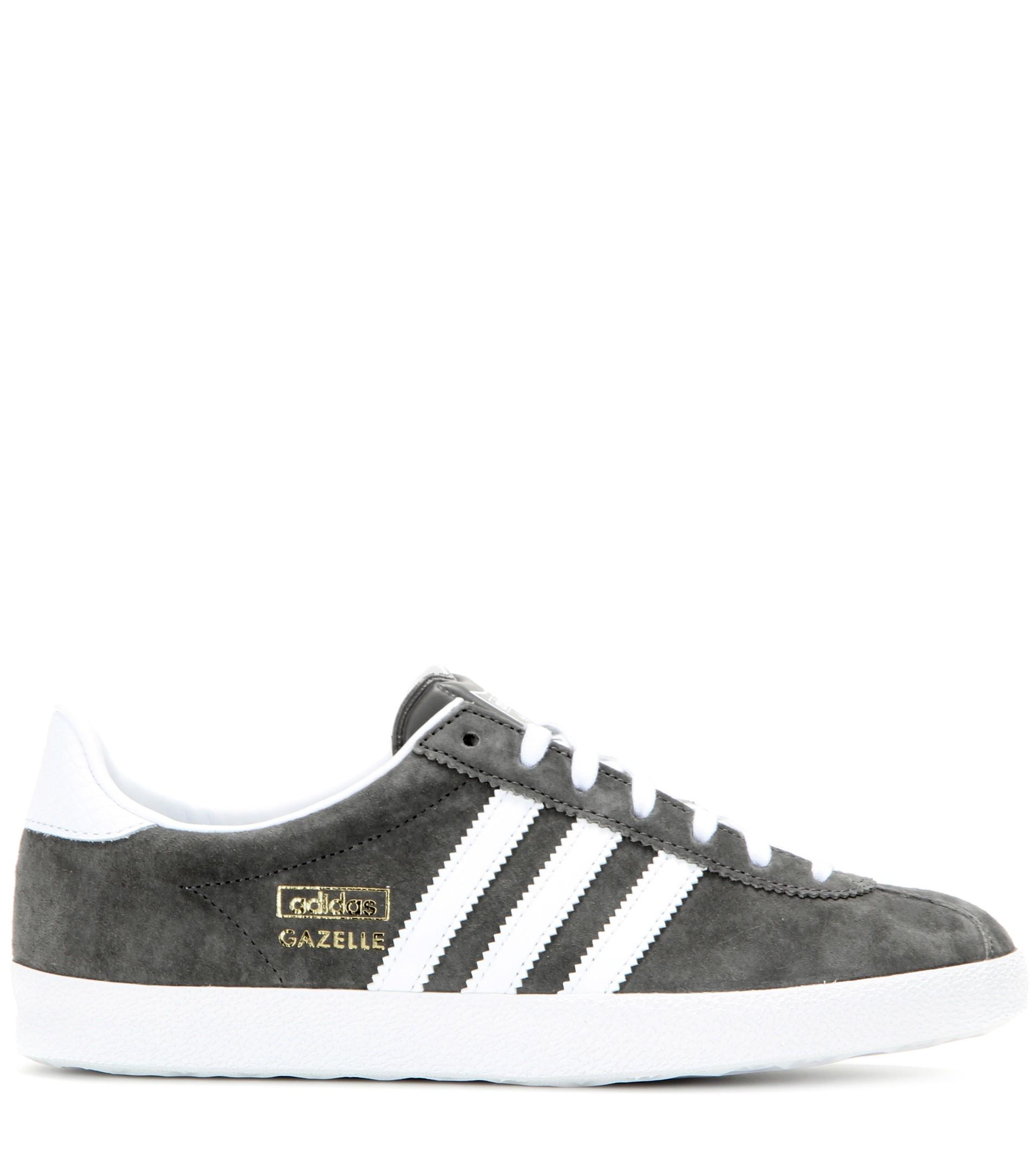 Lyst Adidas Originals Gazelle Og Suede Sneakers In Gray