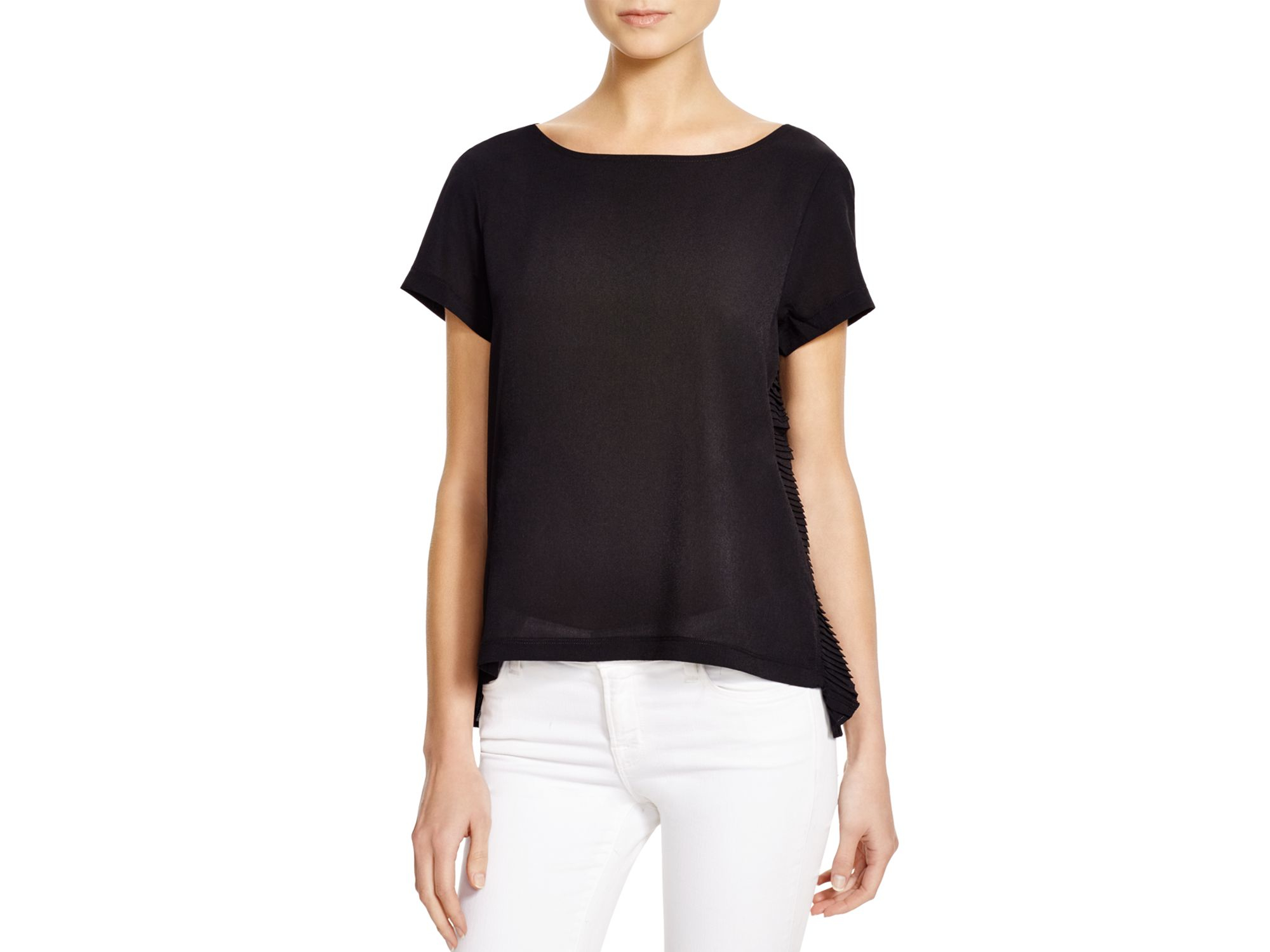 Outlet Store For Sale Sale Inexpensive French Connection Ruffled-Pocket Tee Wiki Cheap Online OHlVm4