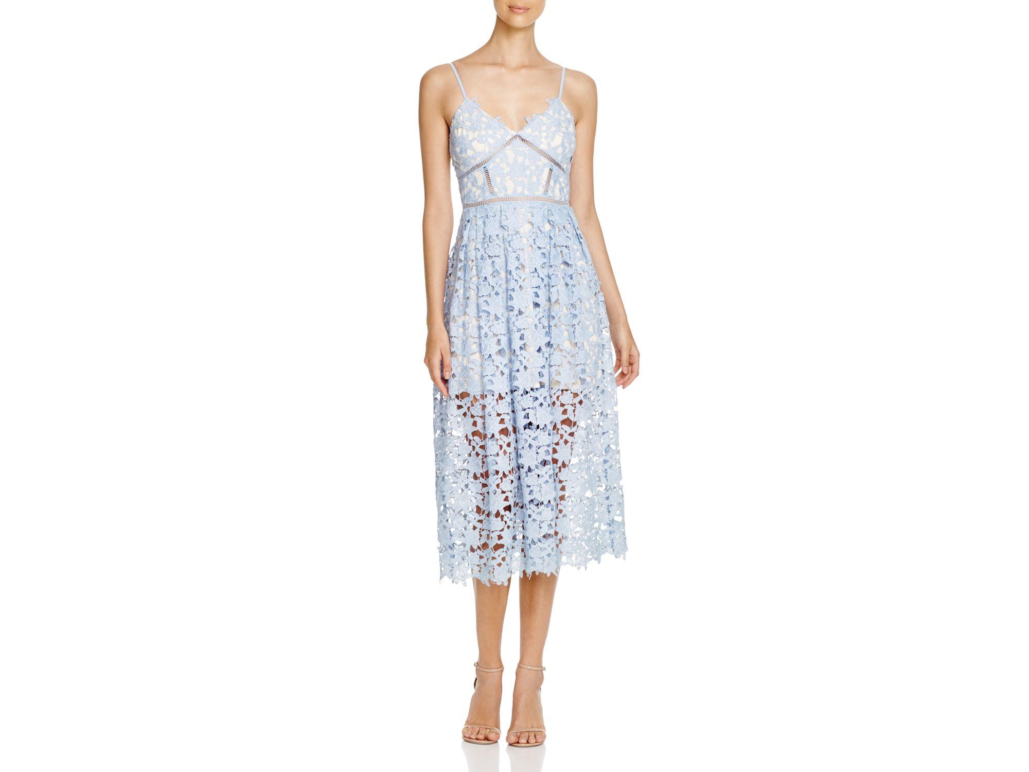 7e1b732d9d9 Aqua Lace Camisole Midi Dress in Blue - Lyst
