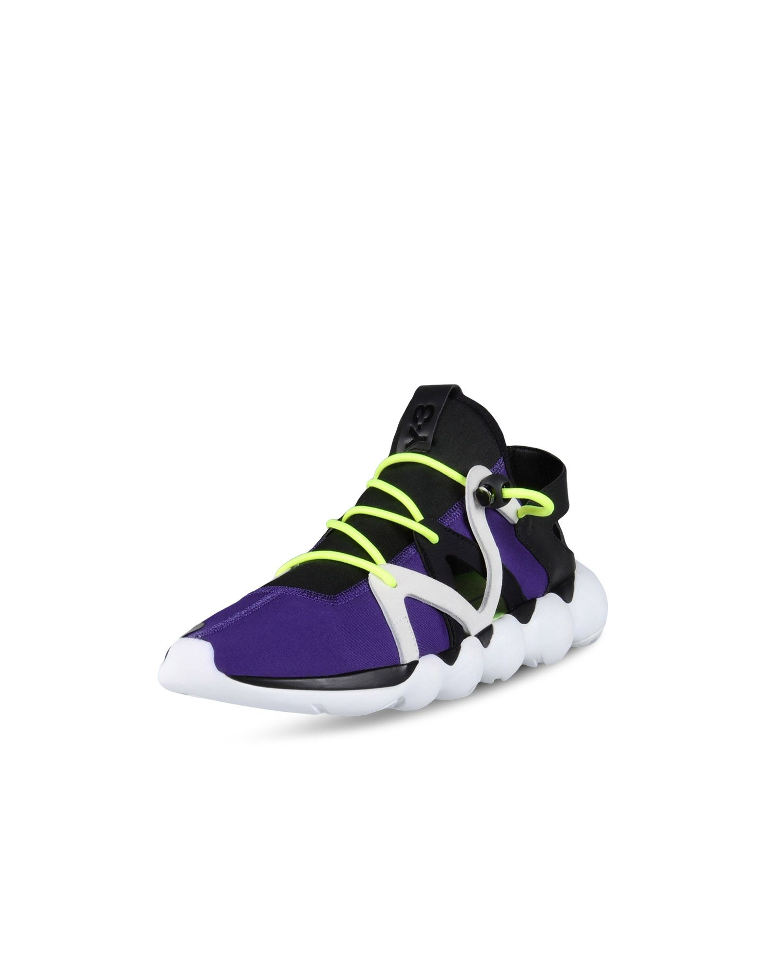 2b9aa7d439a22 Lyst - Y-3 Men s Kyujo Low Sneakers In Black And Purple in Black for Men