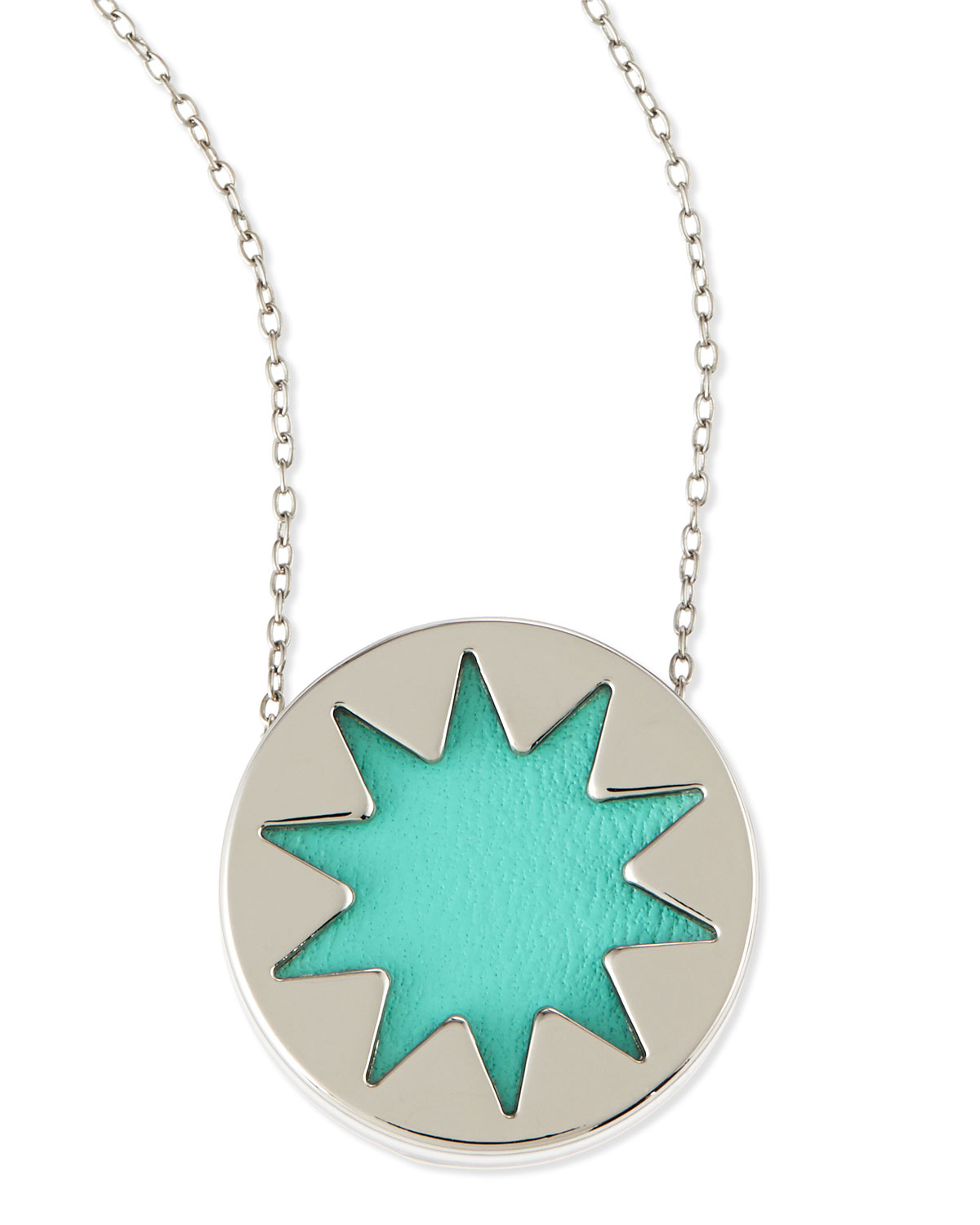 Lyst house of harlow 1960 mini sunburst pendant necklace robins gallery mozeypictures Choice Image