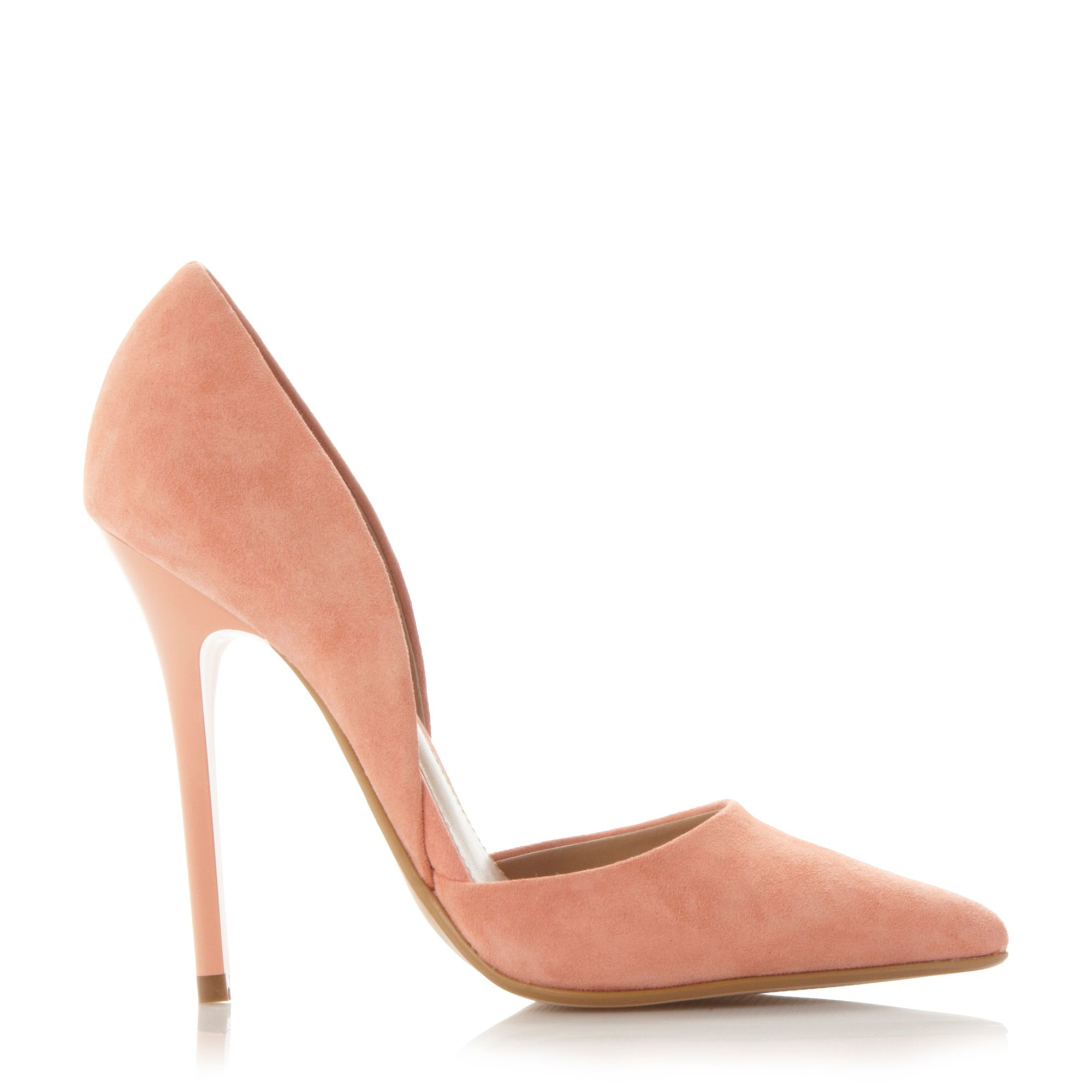 steve madden varcityy pointed court heels in orange lyst. Black Bedroom Furniture Sets. Home Design Ideas
