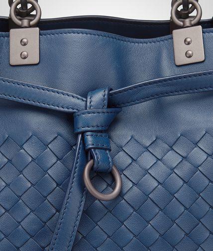 Bottega Veneta Bucket Bag In Pacific Intrecciato Nappa in Blue - Lyst 777a1d2f9d65e