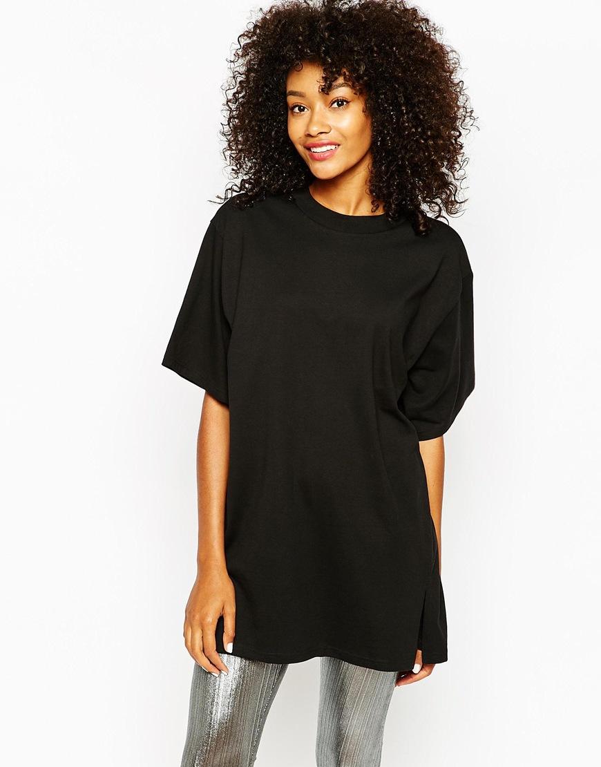 oversized black t shirt women's