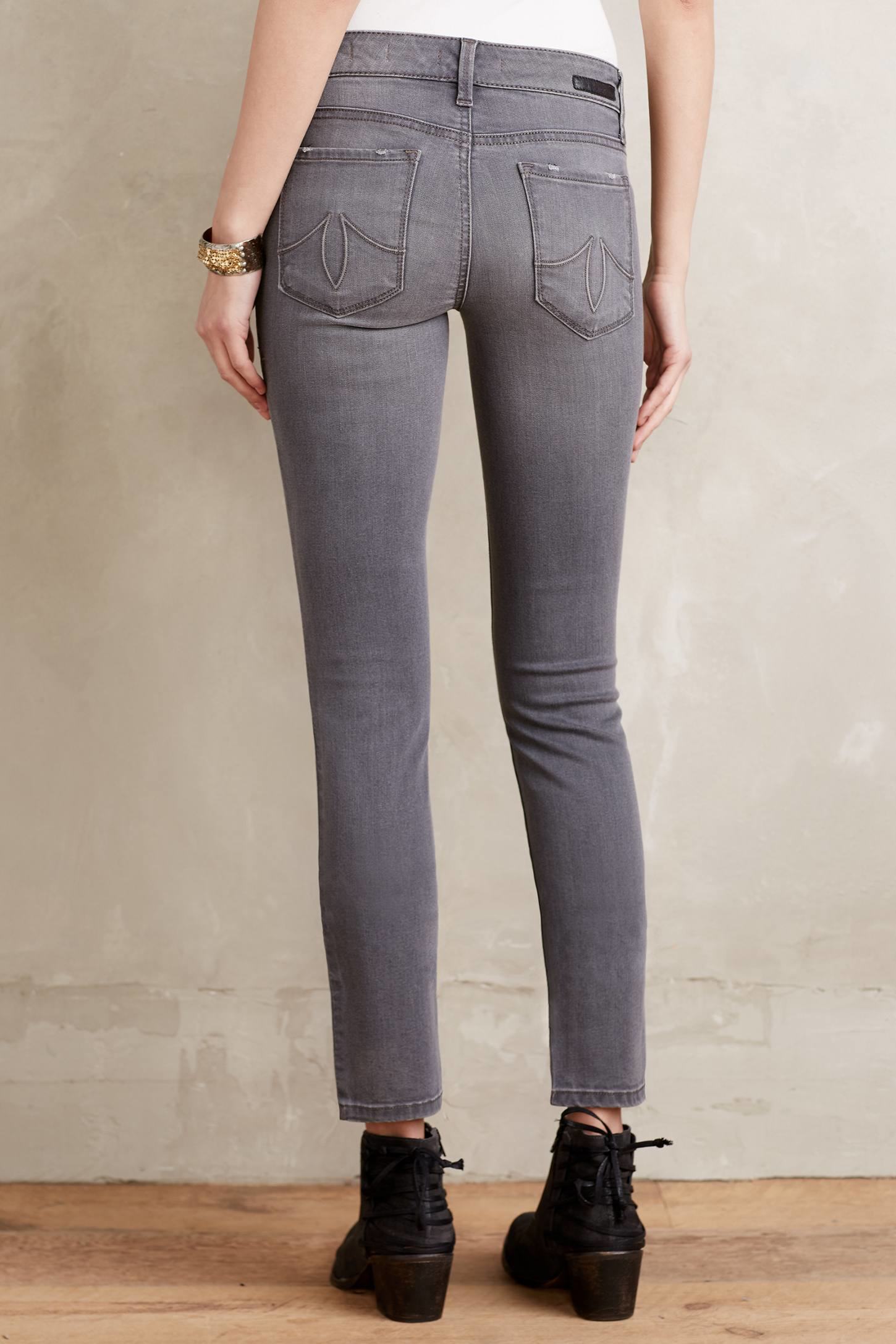 level 99 lily skinny jeans in gray lyst. Black Bedroom Furniture Sets. Home Design Ideas