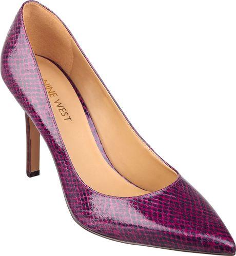 nine west martina high heel pumps in purple pink