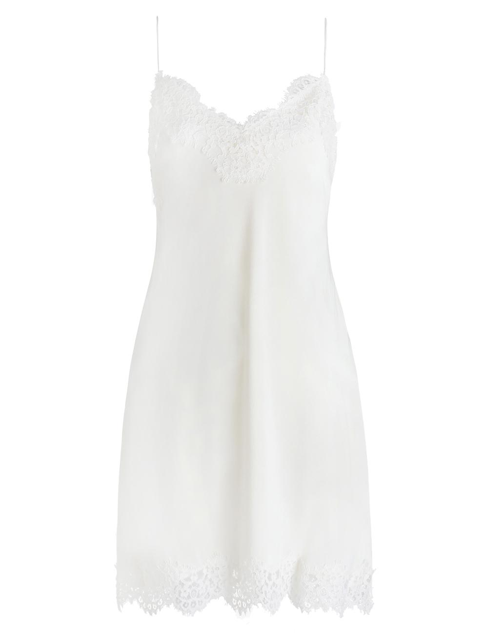 a25f0e5e9a9c Zimmermann Silk Lace Slip in White - Lyst