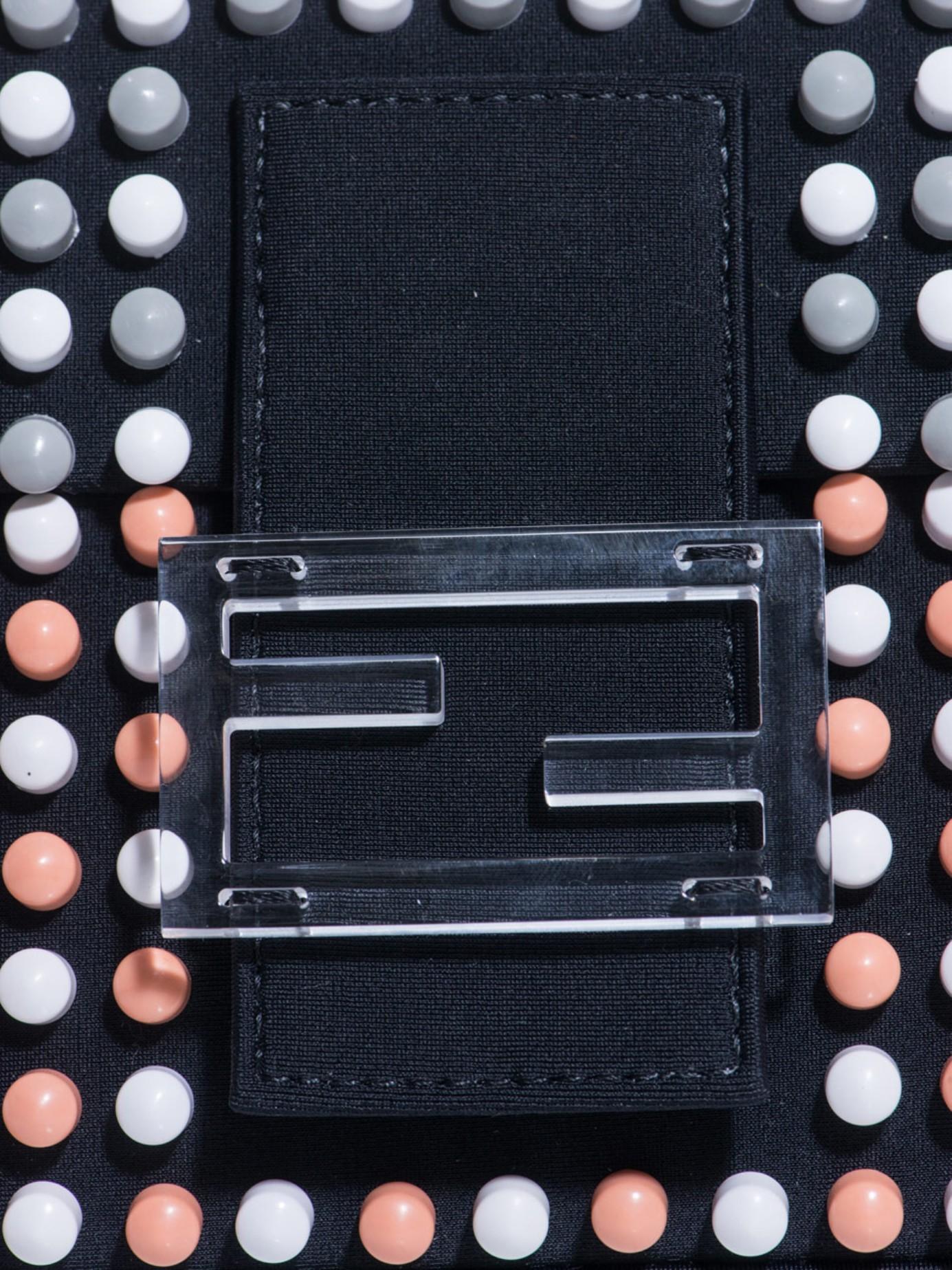 Fendi Baguette Super Bowl Beaded Bag In Black Lyst