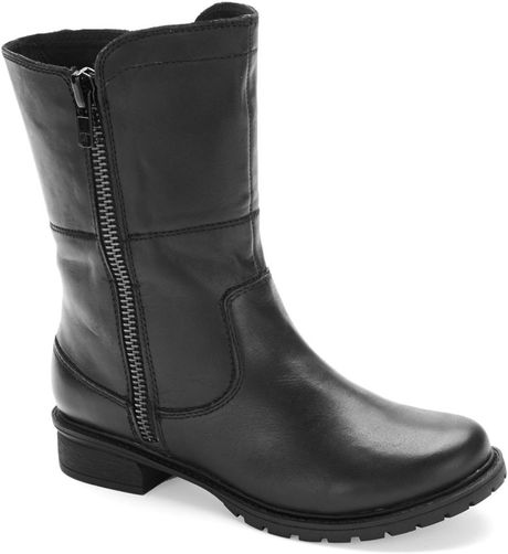 kenneth cole reaction steady leather boots in black lyst