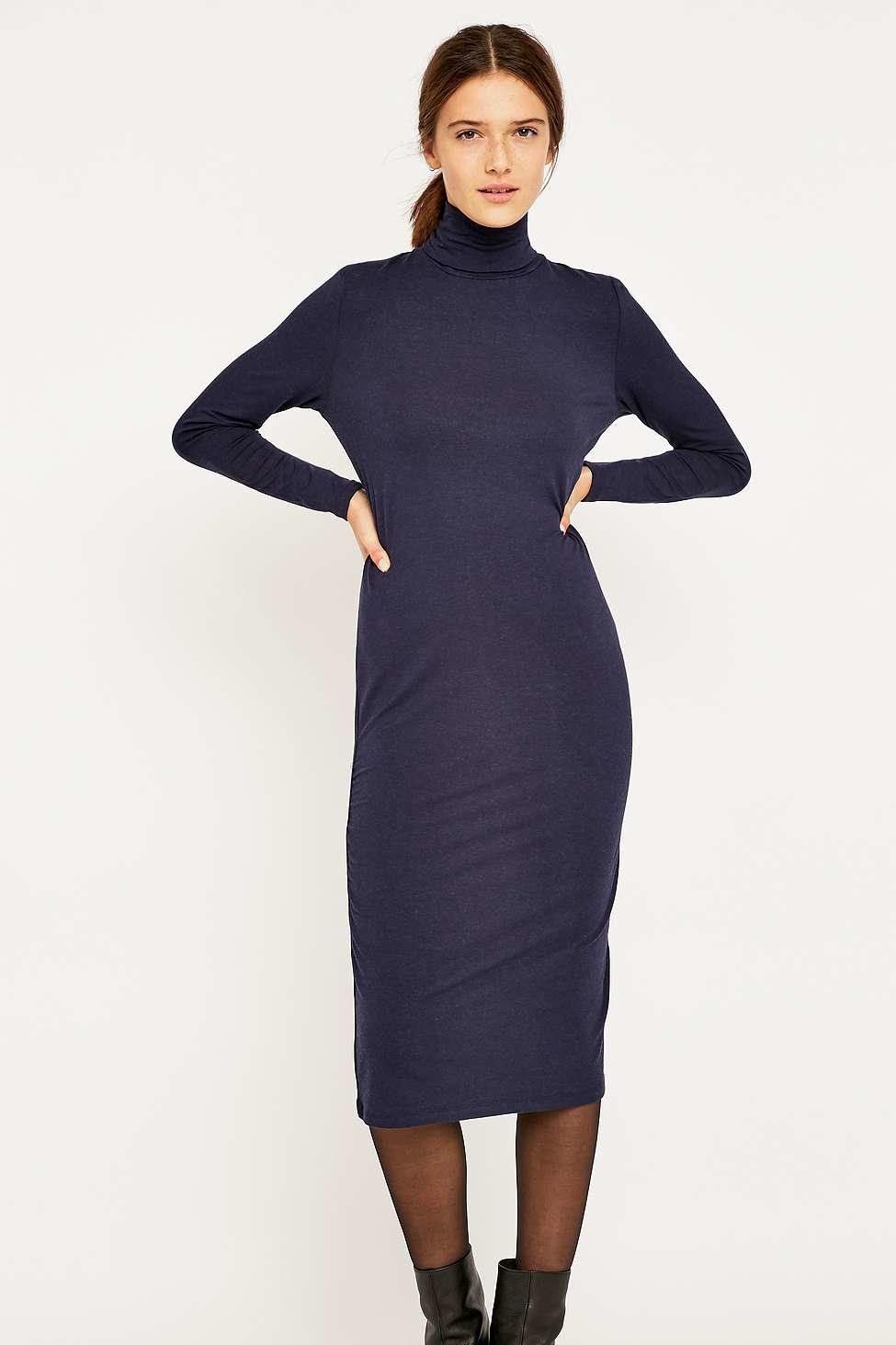 edd970e3e7e5 SELECTED Mellie Long Sleeve Knitted Midi Dress in Blue - Lyst