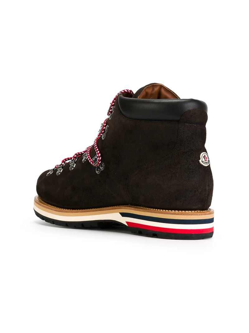 Moncler Peak Hiking Boots In Brown For Men Lyst