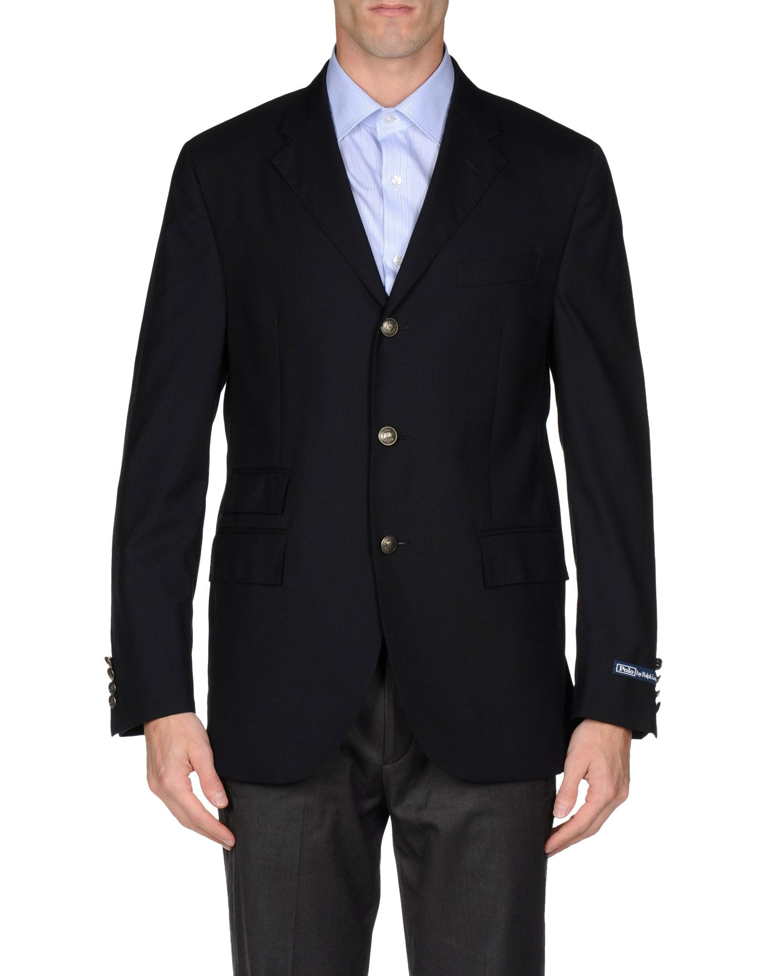 polo ralph lauren blazer in black for men dark blue lyst. Black Bedroom Furniture Sets. Home Design Ideas