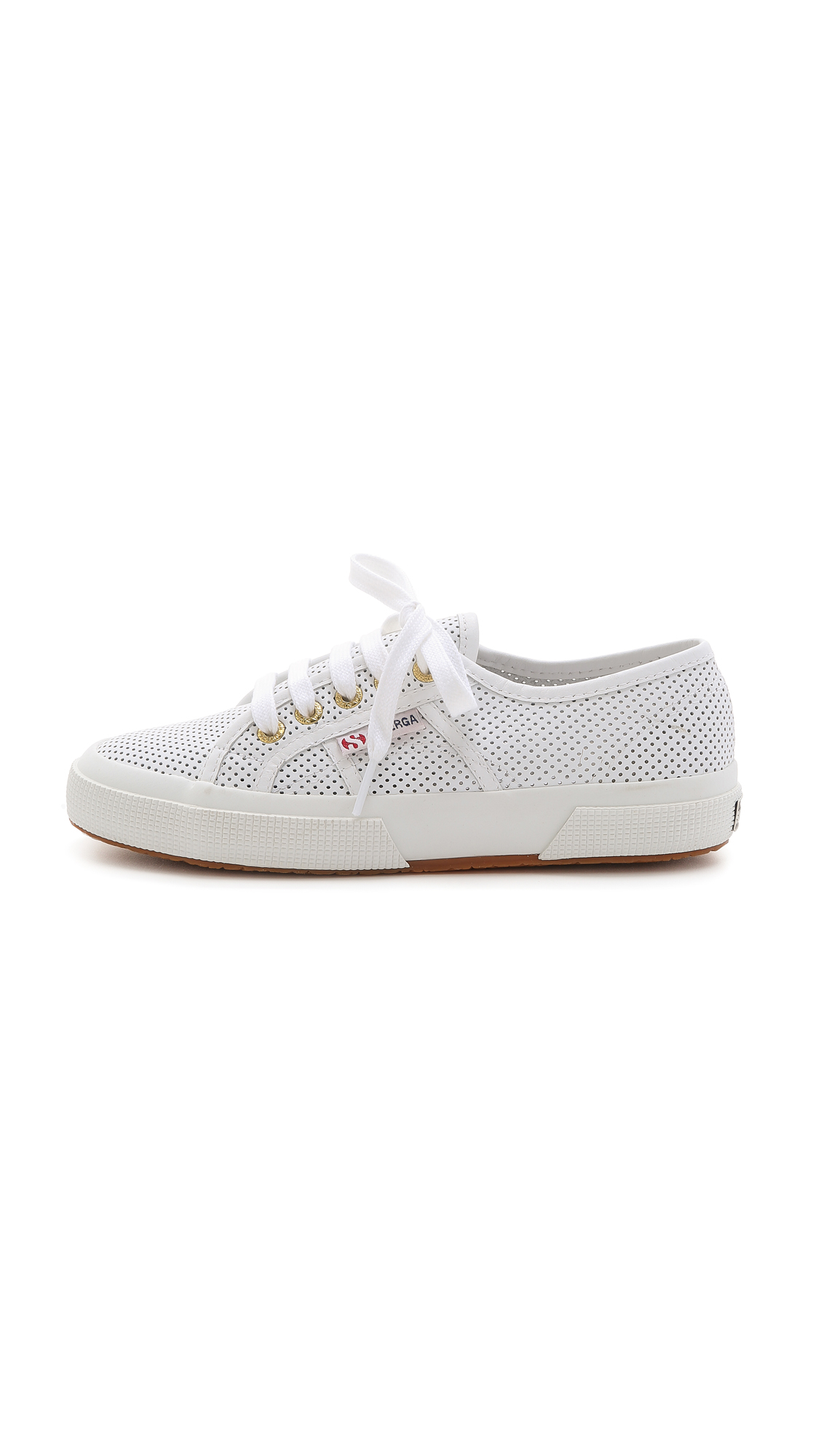 Superga Perforated Leather Sneakers - White