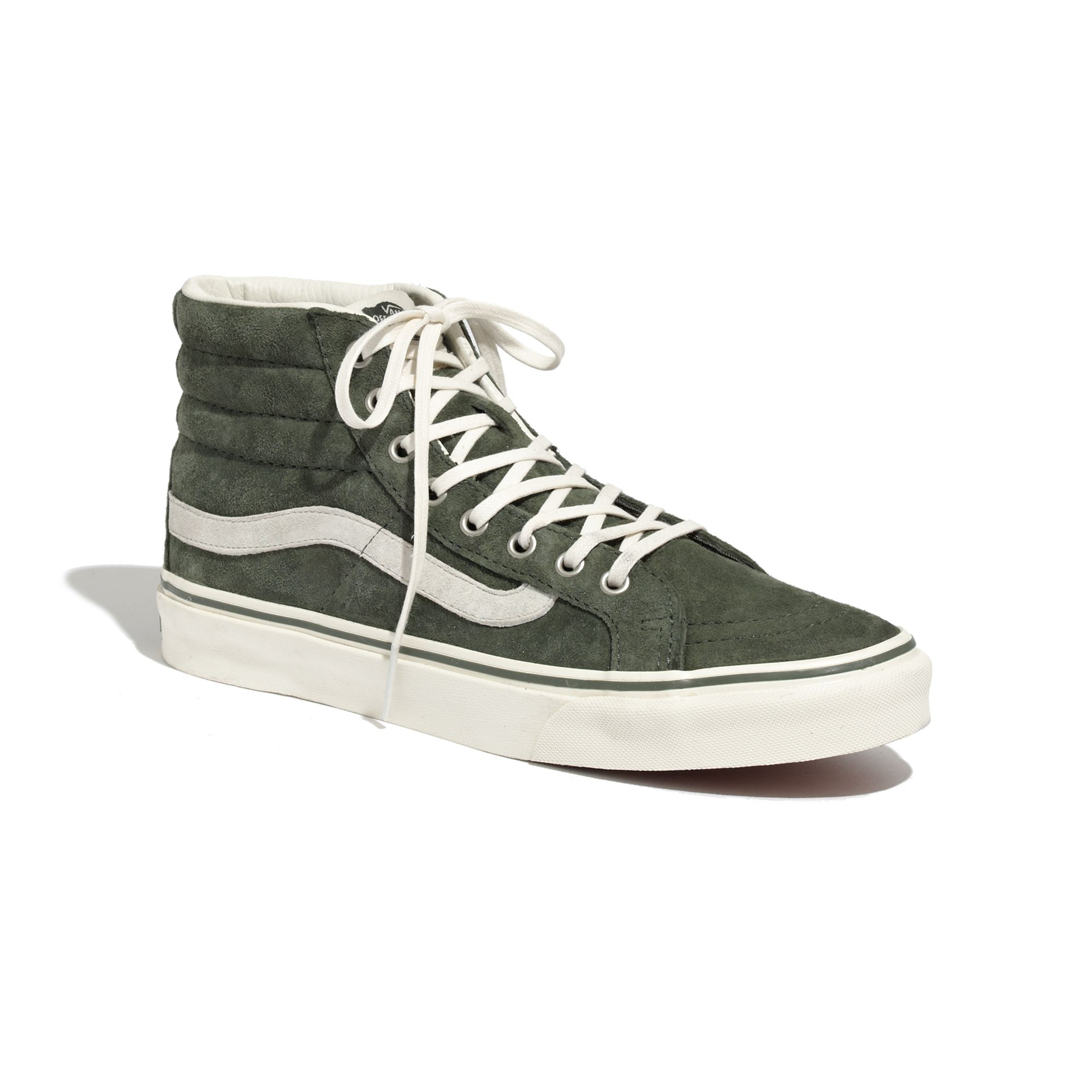 a43bd56bf57 Lyst - Madewell Vans Reg  Sk8-Hi Slim High-Tops In Suede in Green