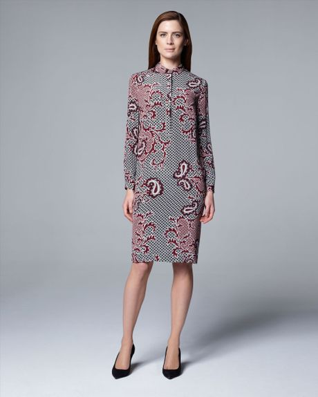 Red Paisley Dress Images