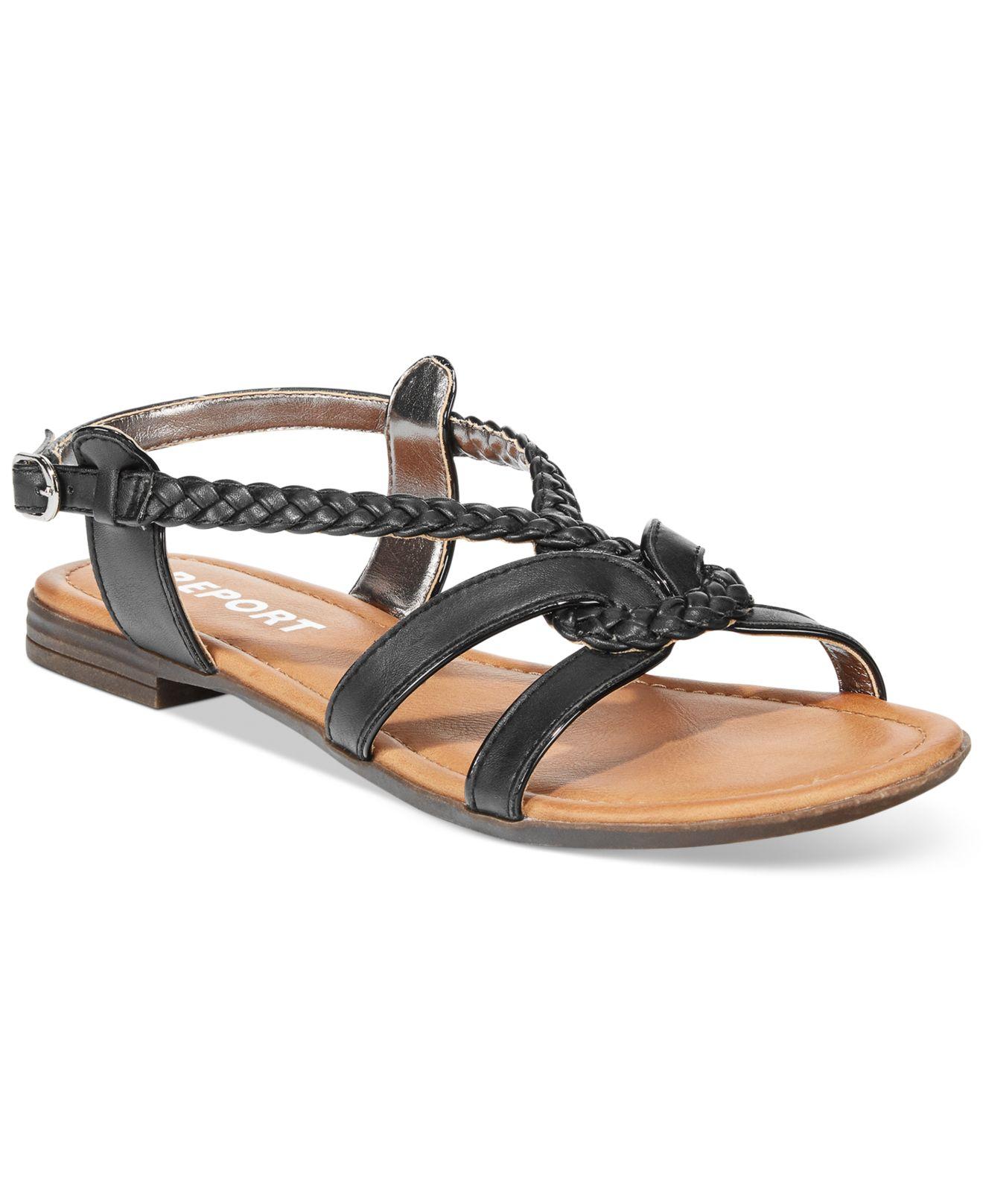 ba48d8960212b3 Lyst - Report Graden Flat Sandals in Black