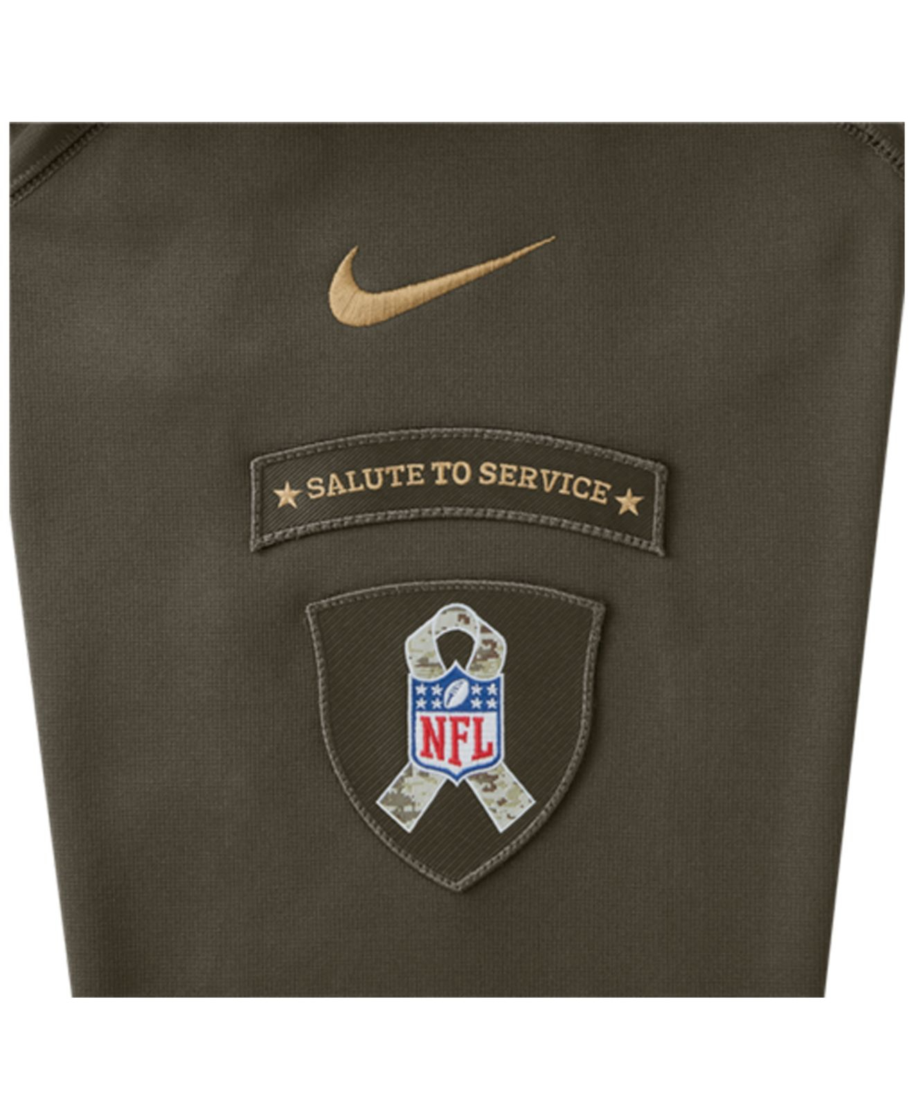 premium selection 9c3a6 eae1b Nike Green Men's Pittsburgh Steelers Salute To Service Ko Hoodie for men