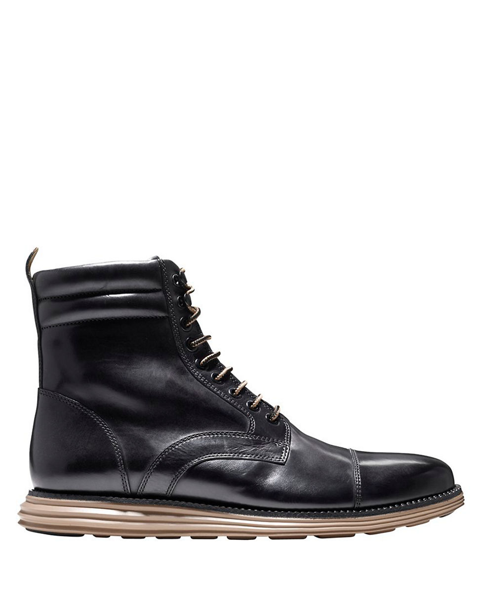 cole haan lunargrand lace boots in black for lyst