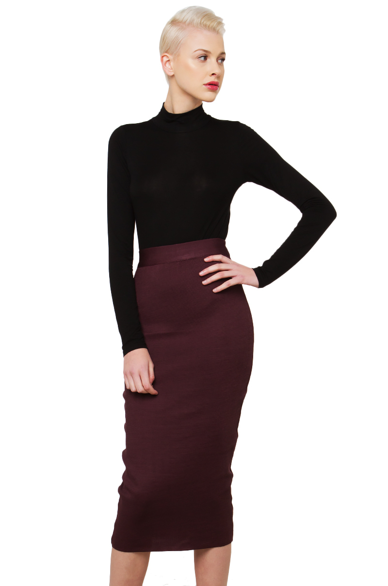 black label tight surrounding midi skirt in lyst