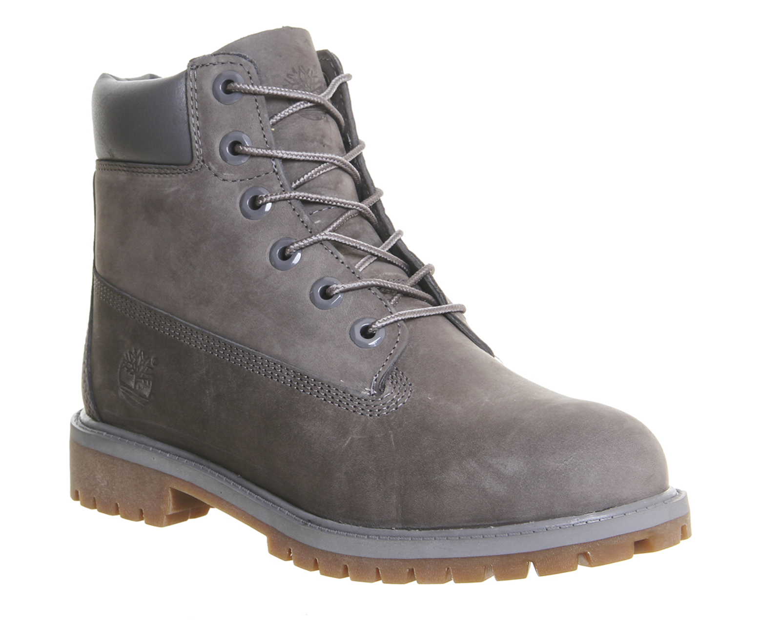 timberland juniors 6 premium waterproof boots in gray. Black Bedroom Furniture Sets. Home Design Ideas