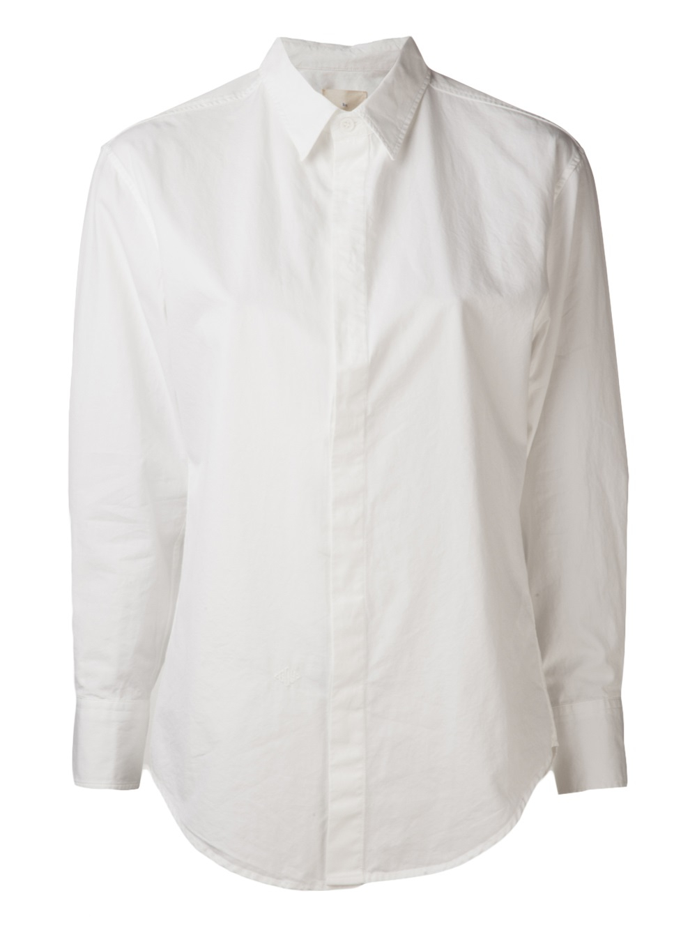 4d7e53d4afdef Lyst - Boy by Band of Outsiders Classic Collar Monogram Shirt in White