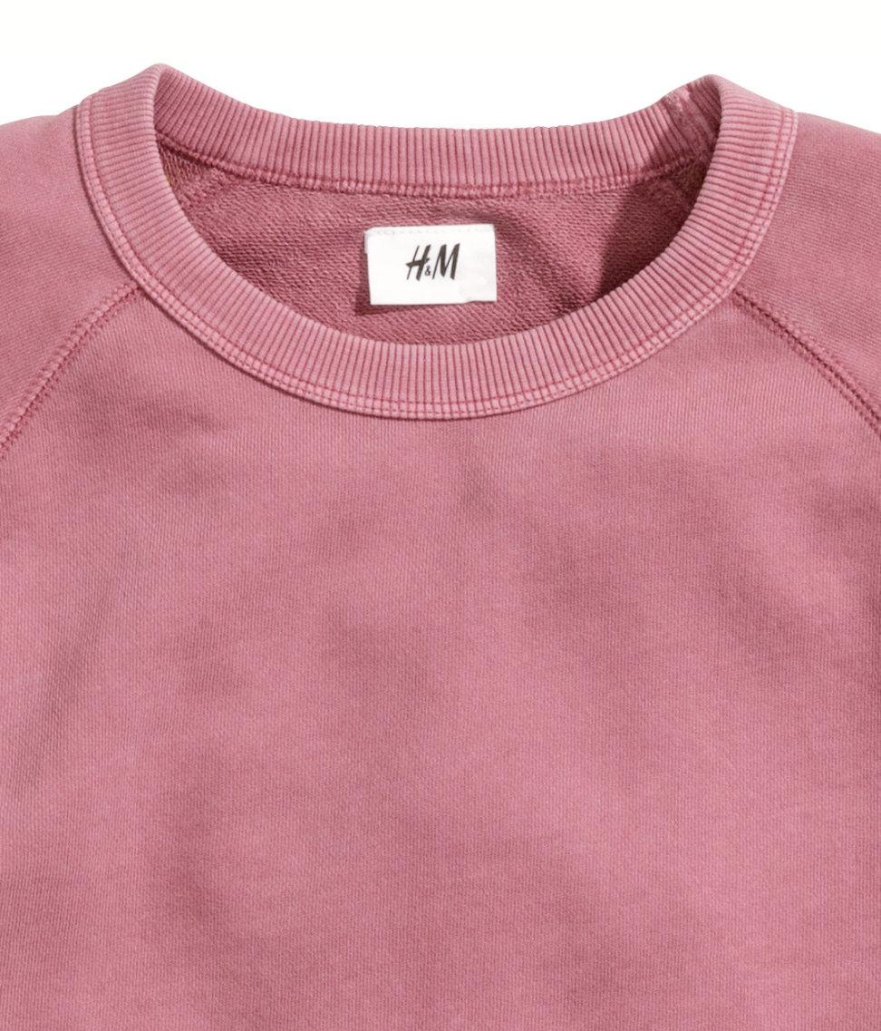Lyst H M Sweatshirt In Pink For Men