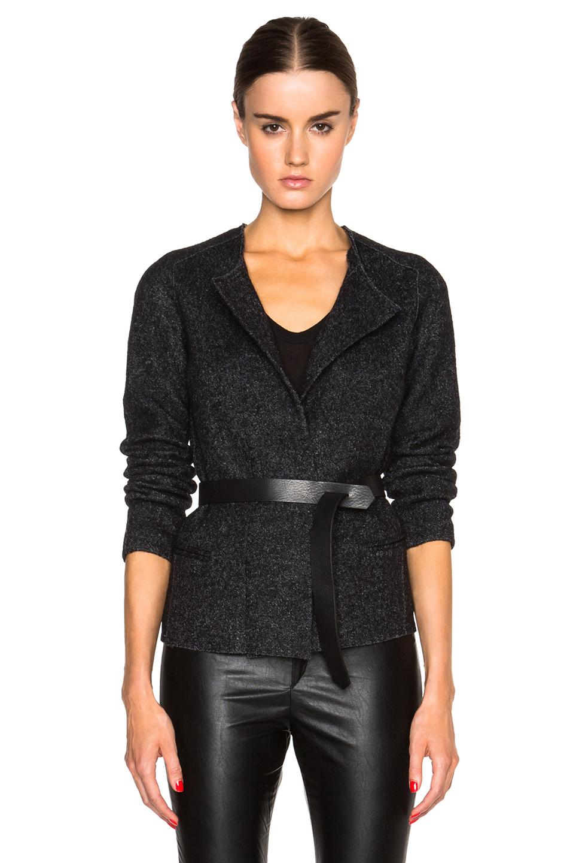 lyst toile isabel marant denzel lady jacket in gray. Black Bedroom Furniture Sets. Home Design Ideas