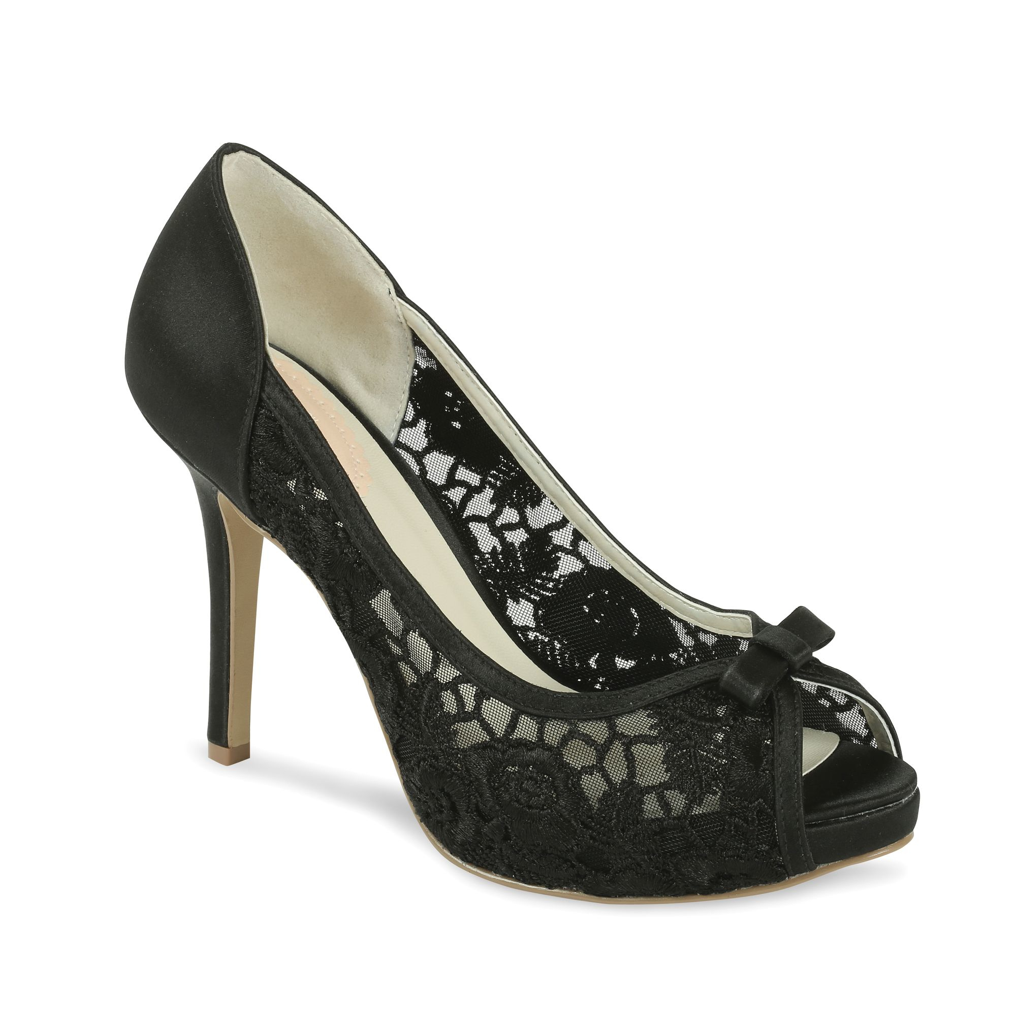 paradox pink zinnia lace platform shoes in black lyst
