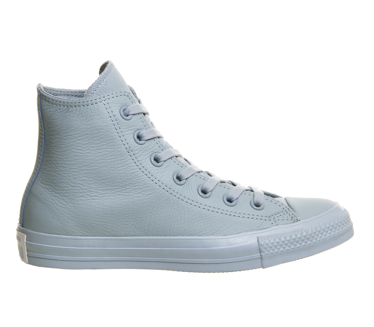 Converse all star hi leather in gray lyst - Graue converse ...