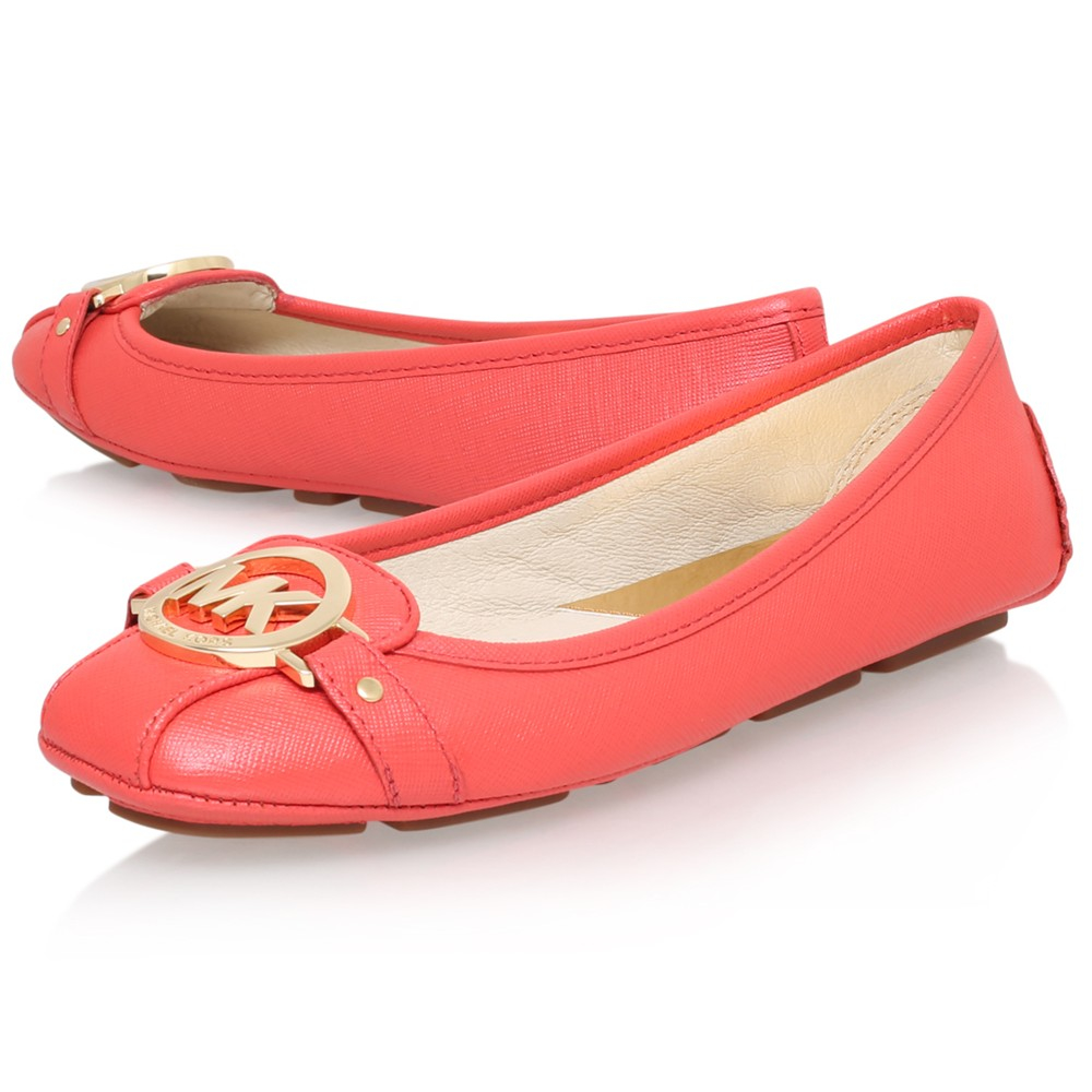 42bf0d4be2eb MICHAEL Michael Kors Fulton Moc Flat Pumps in Pink - Lyst