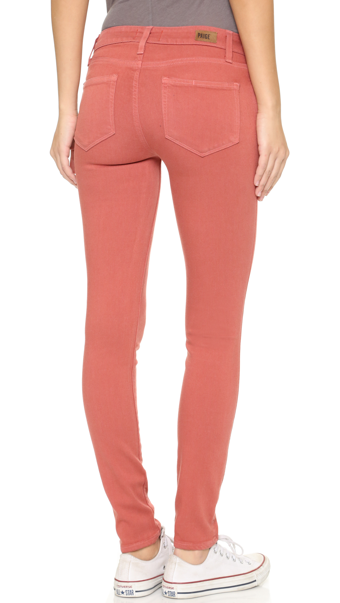 Paige edgemont ultra skinny jeans in red lyst for The edgemont