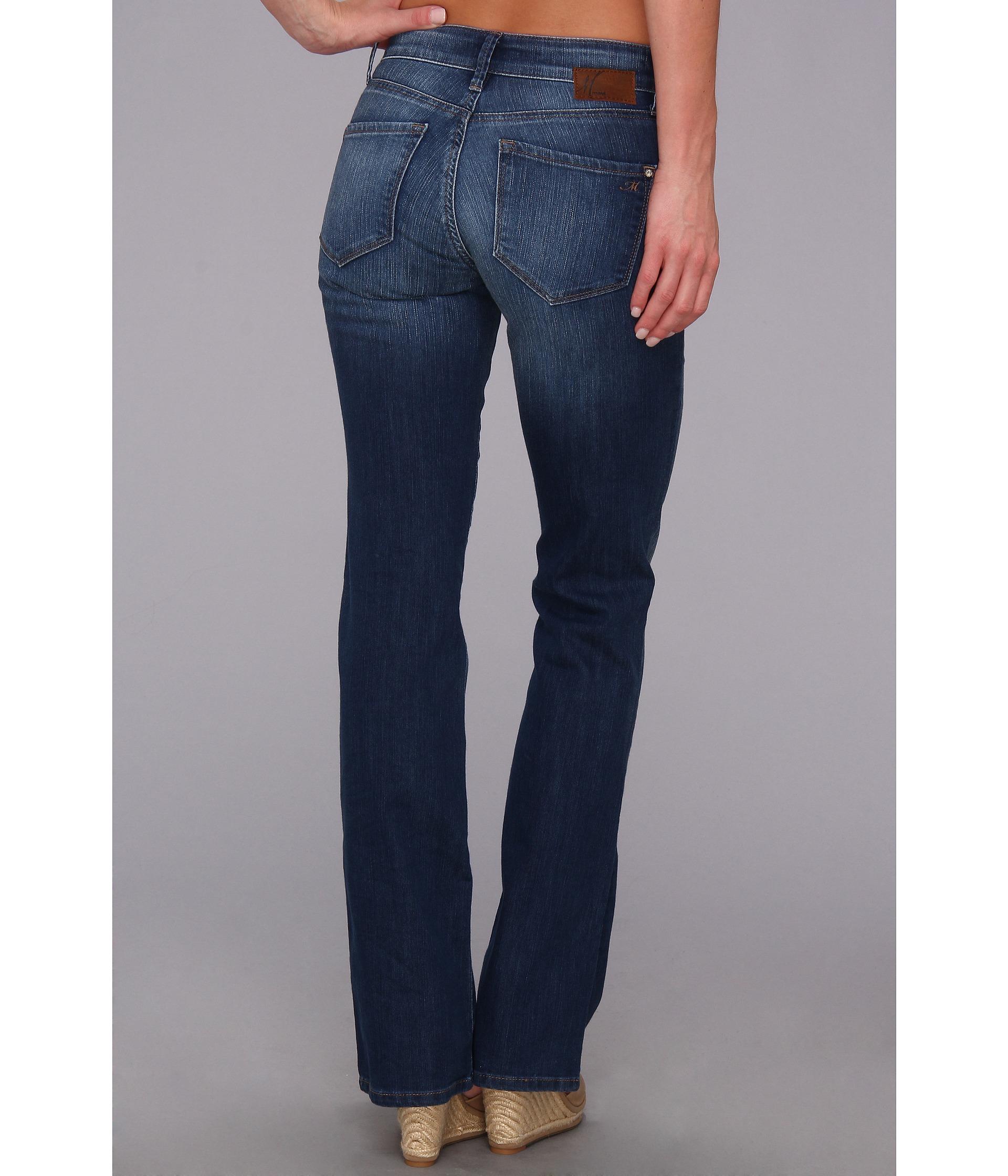 Mavi Womens Molly Mid-Rise Classic Bootcut Jeans
