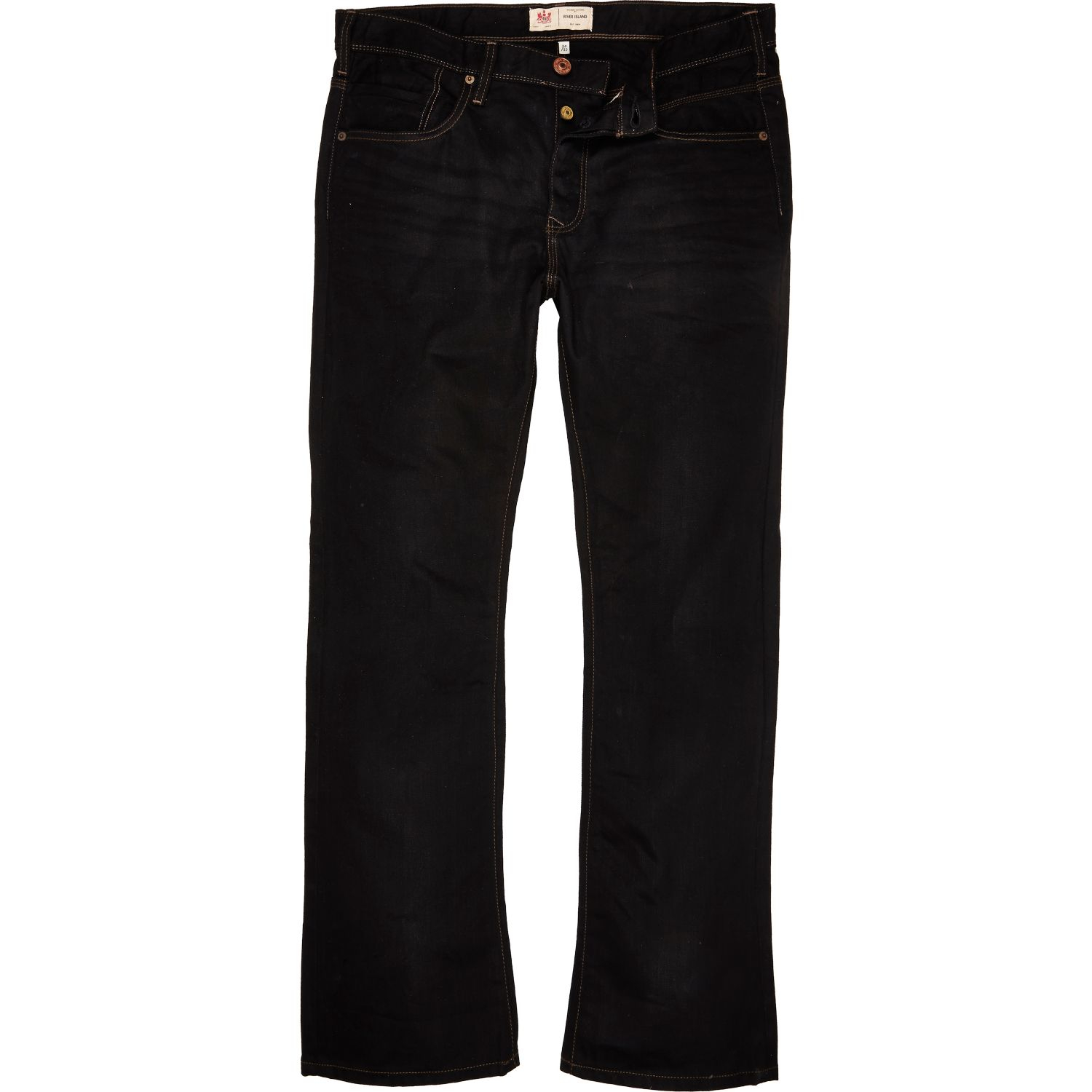 River island Black Clint Bootcut Jeans in Black for Men | Lyst
