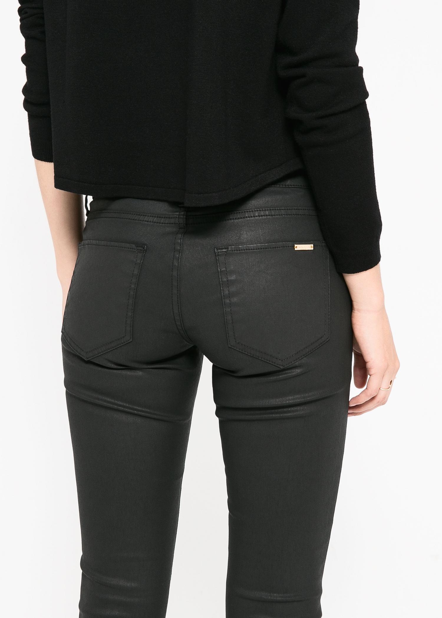 Mango Skinny Belle Jeans in Black | Lyst
